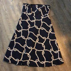 J. Crew Navy Blue Strapless Dress 12